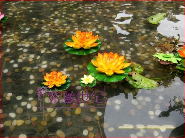 Casa Jardim Decoração 10 cm Simulação Flor Artificial Silk Lotus flor flutuante Plantas de água