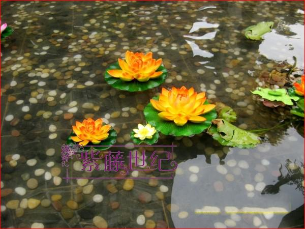 Hausgarten-Dekoration 10cm Simulations-Blumen-künstliche Silk Lotus-Blume, die Wasserpflanzen schwimmt