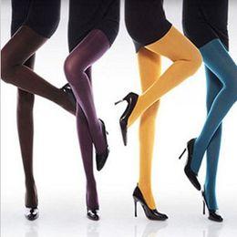 Wholesale Stovepipe Leggings - High Quality Autumn Stovepipe Velvet Pantyhose Socks Women Leggings Fashion Multicolor Tights