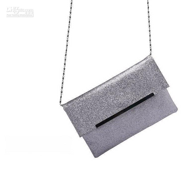 H1058 Nobel Women's Silver Sparkling Sling Bag Party Bag Nwt ...