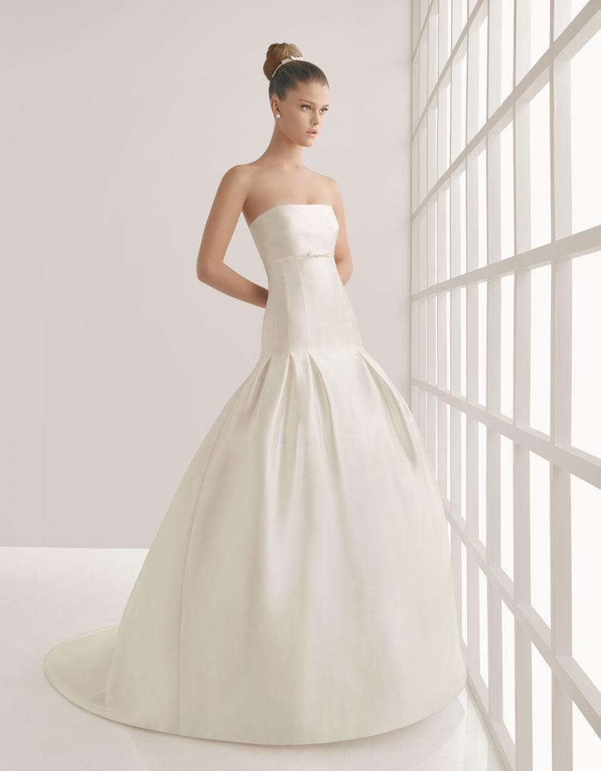 Charming Strapless Mermaid Satin Simple Bridal Gown Wedding Dress ...