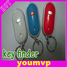 Wholesale Sound Control Locator Key - LED Torch Lost Key Finder Locator Find Keychain Sound Remote Control Whistle