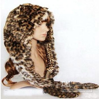 Wholesale 12Piece NEW Style Hood SPIRIT FAUX FUR ANIMAL WINTER HATS WITH LONG SCARF high quality