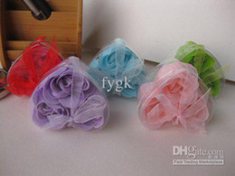 Wholesale Rose Soap 3pcs - new soaps flower 3pcs=1Set, 100set  lot Bath Soaps Flower Rose Petal Available Valentine's Day gift Wedding gift