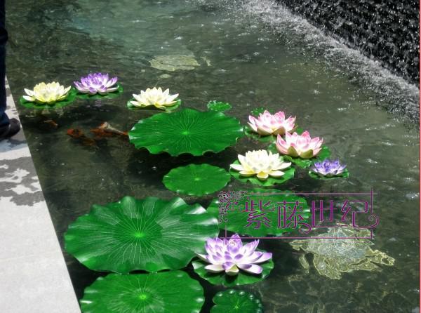 Large Simulation Lotus leaf Artificial Silk Lotus flower leaf floating water Plants 50pcs