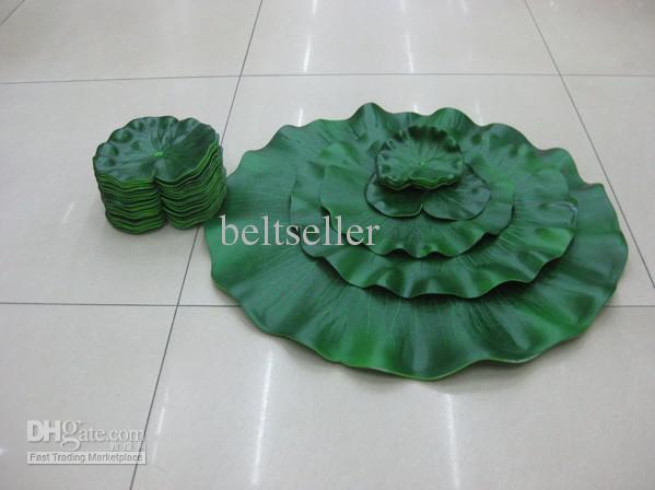 큰 시뮬레이션 연꽃 잎 인공 실크 연꽃 잎 부동 식물 50pcs