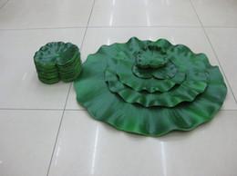 $enCountryForm.capitalKeyWord Canada - Home Garden Decorative Artificial leaf Artificial Silk Lotus flower leaf floating water Plants for wedding party floating centerpieces