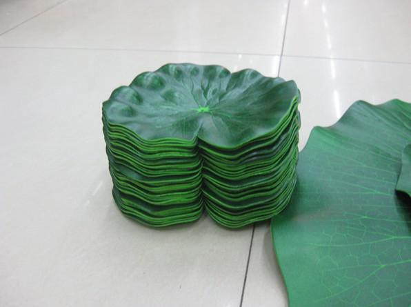 Kunstmatige zijde lotus bloem blad grote maat lotus blad drijvende water planten 20pcs