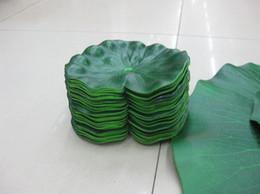 $enCountryForm.capitalKeyWord Canada - 100pcs lot Plastic Artificial leaf Artificial Silk Lotus flower leaf small size