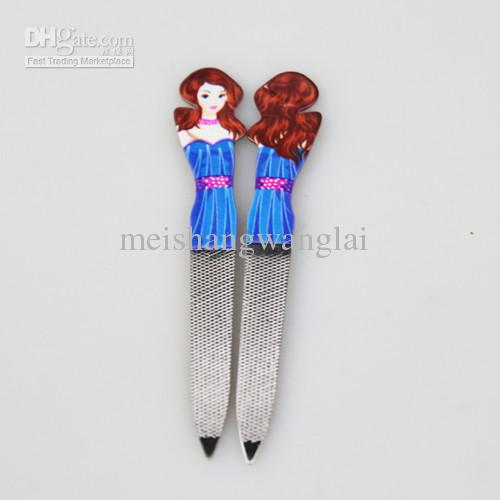 Lime à ongles / Tampon à ongles en acier inoxydable Nail Art Ponçage Fichier Bloc Tampon Slim Tampon Towside 10cm