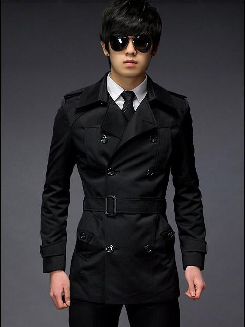 2018 Fashion Spring/Autumn Casual Vintage Slim Men's Trench Coats ...