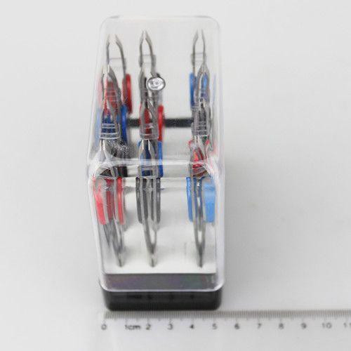 Pincet metalen make-up tool / tweezer roestvrij staal schuin tweeteen wenkbrauw pincet 100 mm lang