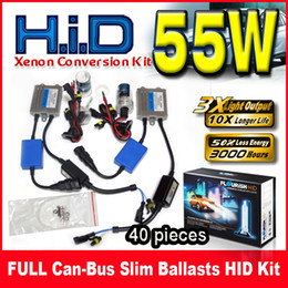 Wholesale Hid Set For Conversion - 40 Sets 55W Canbus(EMC EMI Slim Ballasts HID Xenon Conversion Kits 12V For BMW Benz Audi Single Beam