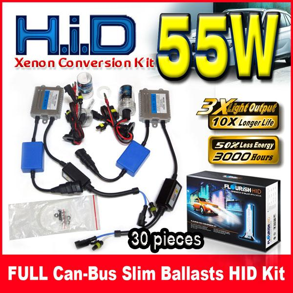 30 Takım 55 W Canbus (EMC + EMI) İnce Balastlar HID Xenon Dönüşüm Kitleri 12 V BMW Benz Audi Için Tek Işın