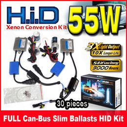 Wholesale Hid Set For Conversion - 30 Set 55W Canbus(EMC+EMI) Slim Ballasts HID Xenon Conversion Kits 12V For BMW Benz Audi Single Beam