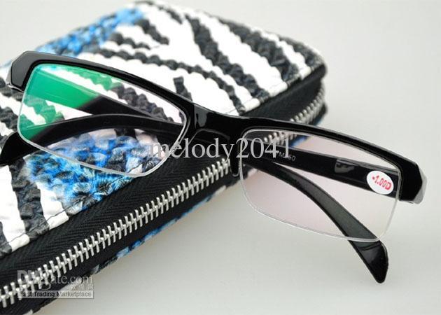 Myopie-optische Rahmen-Verschreibungs-Brillen-Kurzsichtigkeits-Gläser halbes schwarzes Feld-preiswerte Eyewear-Lesegläser geben Schiff frei