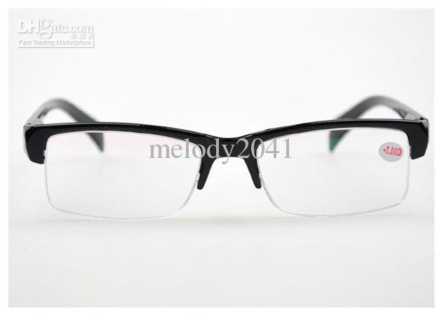 Miopia Quadro Óptico Óculos de Prescrição Óculos de Calor Metade Preto Quadro Barato Eyewear Óculos de Leitura Navio Livre