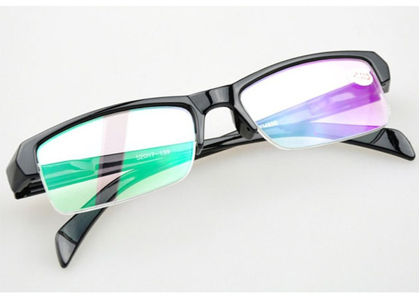 Myopie Optical Frame Lunettes de prescription Lunettes de vision courte Demi-cadre noir Lunettes de lecture pas cher Lunettes 20pcs livraison gratuite