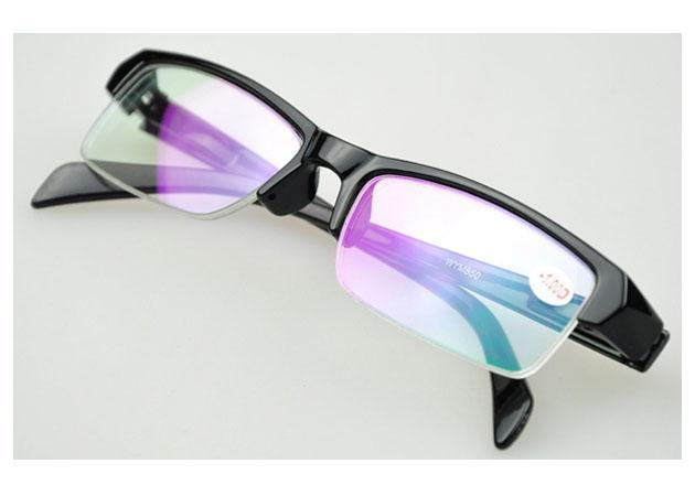 Myopie Optical Frame Lunettes de prescription Lunettes de vision courte Demi-cadre noir Lunettes de lecture pas cher Lunettes livraison gratuite