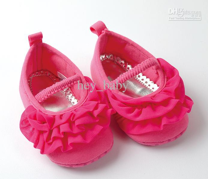 2017 Baby Girls Shoes Girls Pink Lace Shoes Baby Ruffle First ...