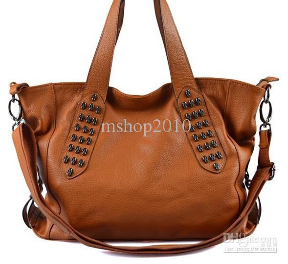 Skull Heads Women Shoulder Bag Leather Handbags Real Leather Bags ...