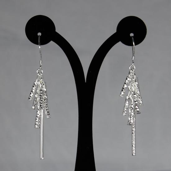 Büyük kalite gümüş kaplama pirinç püskül dangle küpe moda takı mücevher