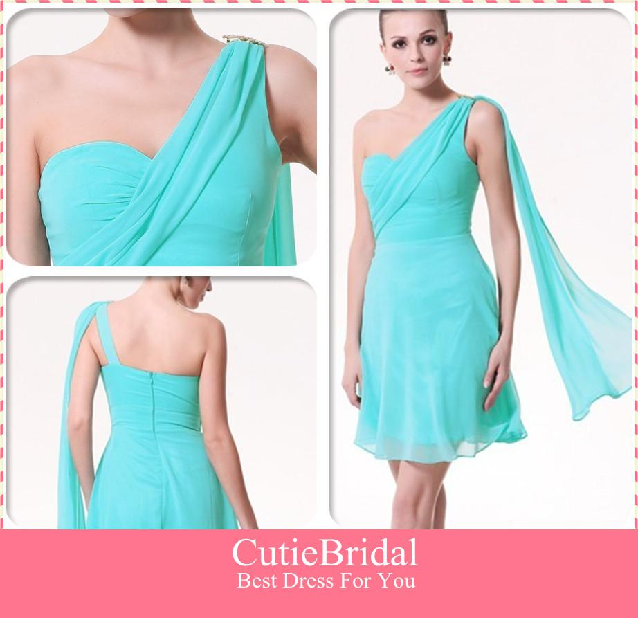 Flowing Chiffon Ribbon Simple Cheap Bridesmaid Dress Straight ...