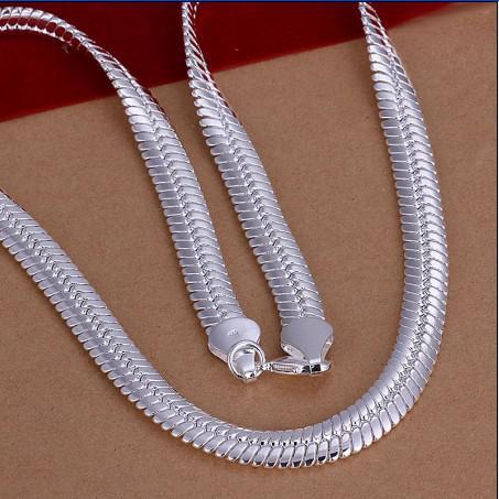Haute qualité 10MM 20 pouces 925 chaîne de serpent en argent collier de mode bijoux unisexe livraison gratuite 5pcs