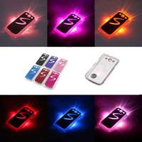 Wholesale S3 Cases Led - 100Pcs   lot Sense LED light Flash 6 colorful Hard Skin Case Cover For Samsung SIII S3 i9300