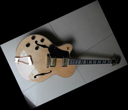 Wholesale Left Handed Jazz Electric Guitar - Lefty hollow body jazz electric guitar Natural wooden maple in left handed L-5 2011