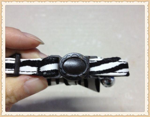 Luxe Zwart Zebra Diasmonte Bow Cat Collar Safey Breakaway Buckle 30pcs / lot