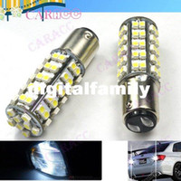 Wholesale 1157 Smd - Powerful Car LED Light DC 12V White Stop tail Car bulb Brake Light Rear Lamp 68 LED 3528 SMD 1157 BAY15D 2705
