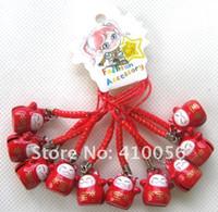 Wholesale Maneki Neko Charms - Red Cute Japan Maneki Neko Lucky Cat Hanging Charm   Cell Phone Strap