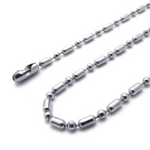 20 '' - 28in Edelstahl Bambus Gelenk Kette Halsketten 316L Halskette 20pcs / lot 2.4mm Weihnachtsgeschenke