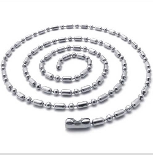 20 '' - 28in aço Inoxidável cadeia conjunta de bambu colares colar 316L 20 pçs / lote 2.4mm presentes de Natal