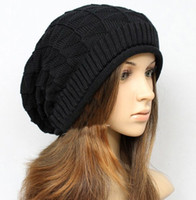 Wholesale Sun Cap China - Brand Winter Hats Couples Hat knitting Wool BBOY CAP Flanging Multicolor pin check brand new china manufacturer 10pc