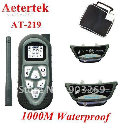 DHL Free + 219-2 Aetertek Dog Training Collar High Quality Vibrate ... 70b4f297d0f