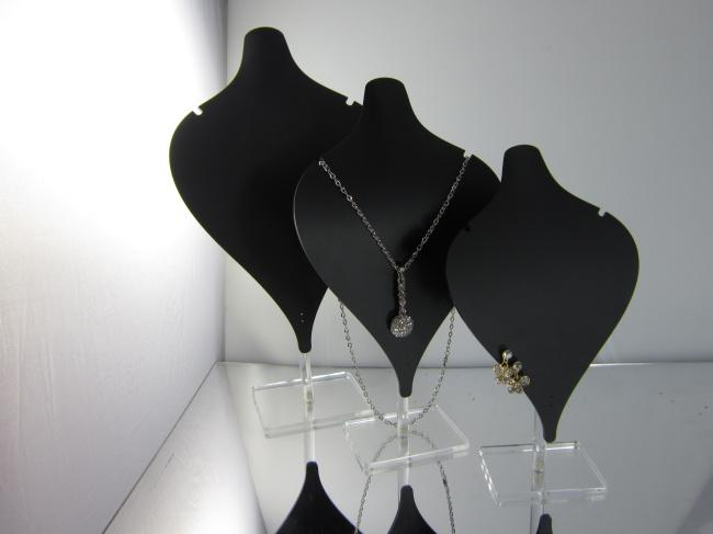 40 Wholesale Set Of 40 Black Acrylic Necklace Earring Pendant Inspiration Jewellery Display Stands Wholesale