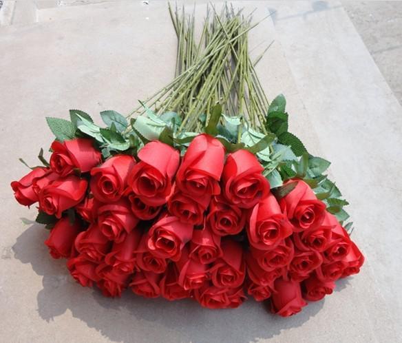 シミュレーション花シングルブランチ小さなバラシルクフラワー家庭用装飾品ブーケ