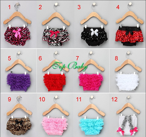 Hot! 15pcs Infant Baby Girls Lace Bloomers Chiffon Ruffle Pettiskirt Panties Toddle Kids Underpants