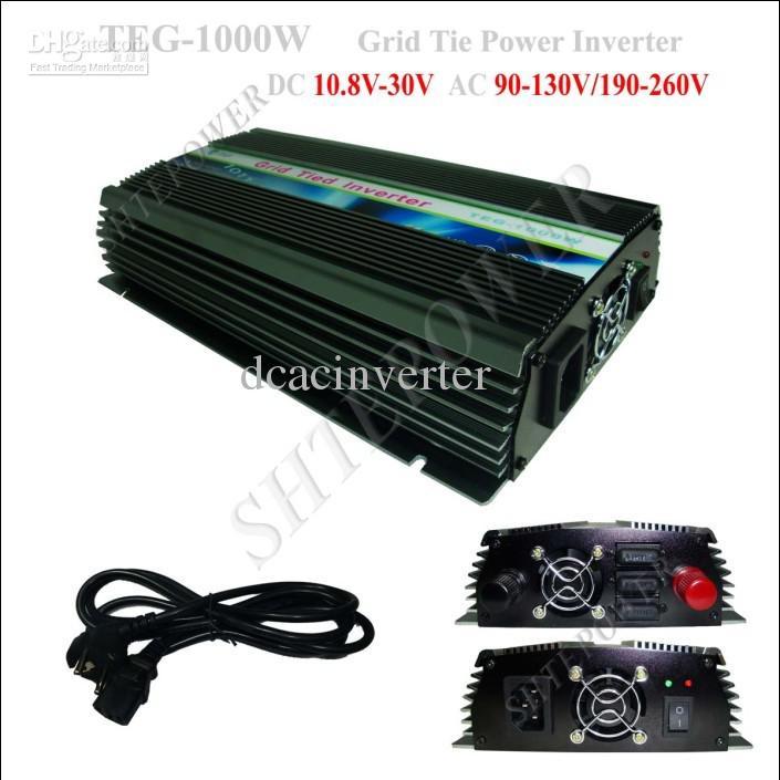 1000 watt Auf Rasterfeldriegel Solar Power Inverter 1KW, DC 10,8 V ~ 30 V zu AC 110 V (90-150 v)