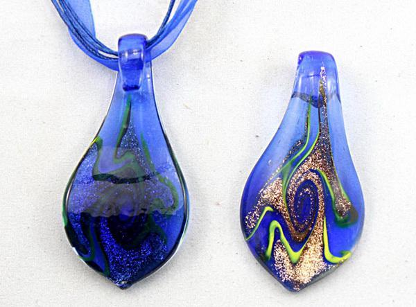 ليف lampwork الزجاج مطرز قلادة قلادة الأزياء الإيطالية الفن مورانو الذهب غبار الزجاج والمجوهرات