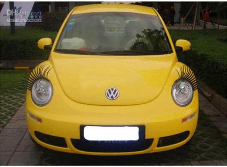60 UNIDS = 30 Pares X Negro 3D Automóvil Faros de Pestañas Ojos de Coche Pestañas Auto 3D Pestañas Logotipo de Coche 3D Pegatina Envío gratis