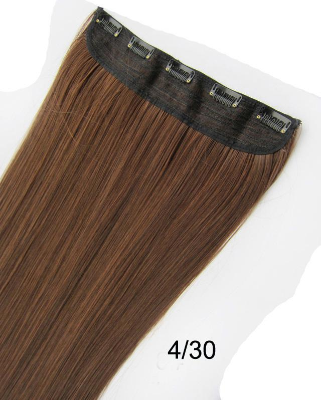 Straight hair extension clip in onsynthetic hair weft with 5 see larger image pmusecretfo Choice Image