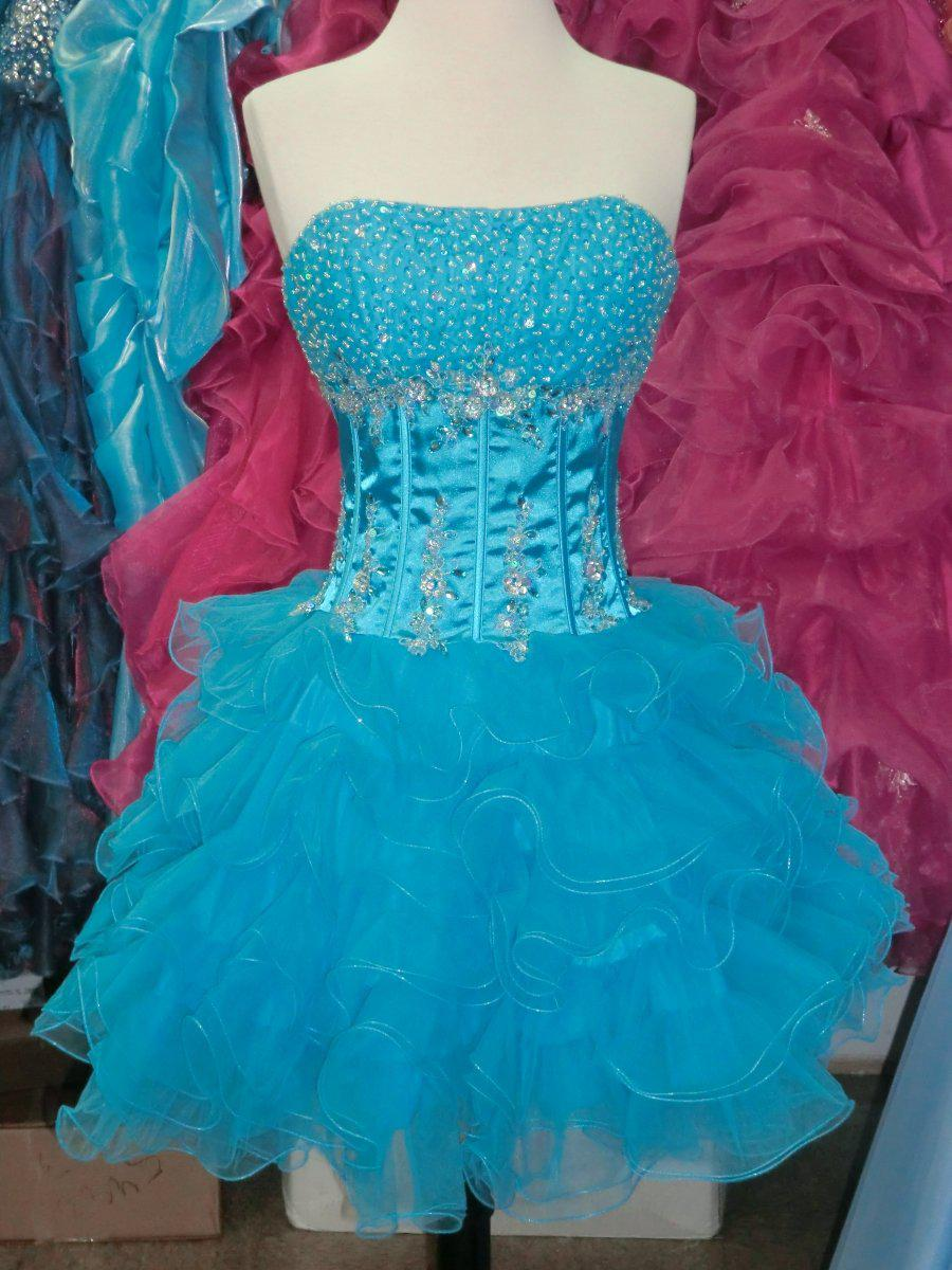 Sexy Short Prom Homecoming Dress Turquoise Sz Xs Nwt Prom Dresses ...