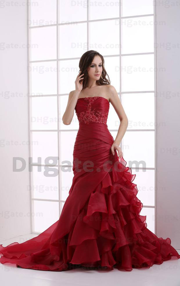 Exclusive Purple Ruched Flowers Taffeta Tulle A-line Evening Ball Quinceanera Prom Dress