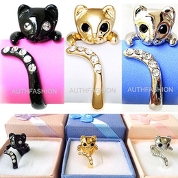 Wholesale Mini Cluster - Korean version of the hot sale resizable fashion personality cute mini cat ring wholesale free shipping LM-R001