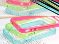 Wholesale Glow Bumper - Glow in the Dark Noctilucent Bumper Frame TPU Case cover for iphone 5 5G fluorescent 5 colors