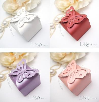 Butterfly Pattern Favor Favour Gift Candy Bomboniere Boxes Wedding Party Baby Shower, 100PCS/LOT