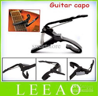 Wholesale Guitar Capo Trigger - 50pcs lot Quick Change Trigger Key Capo Acoustic Electric Guitar Clamp Black Free Shipping